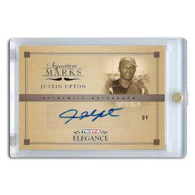 Justin Upton Autographed Card 2007 TriStar Prospects Plus Signature Marks # SM-JU