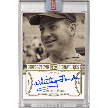 Whitey Ford Autographed Card 2013 Panini Cooperstown Signatures Ltd Ed of 50