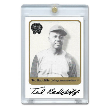 Ted Radcliffe Autographed Card 2001 Fleer Greats of the Game