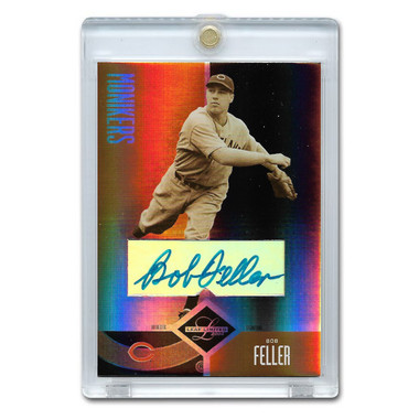 Bob Feller Autographed Card 2005 Leaf Limited Monikers Ltd Ed of 100