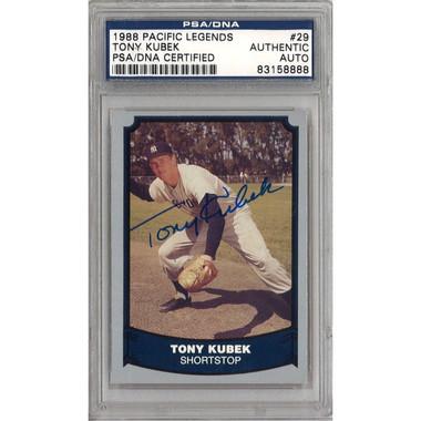 Tony Kubek Autographed Card 1988 Pacific Legends # 29 (PSA)