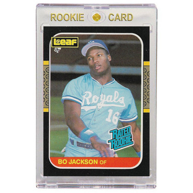 Bo Jackson Kansas City Royals 1987 Leaf # 35 Rookie Card