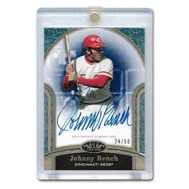 Johnny Bench Autographed Card 2020 Topps Tier One Next Level Ltd Ed of 50