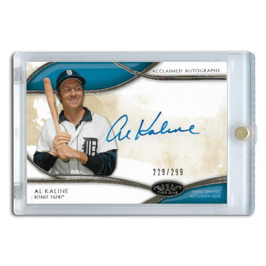 Al Kaline Autographed Card 2014 Topps Tier One Acclaimed Ltd Ed of 299