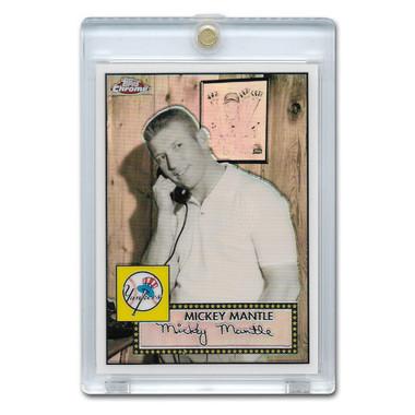 Mickey Mantle 2007 Topps Chrome White Refractor #MMS4 Ltd Ed of 200