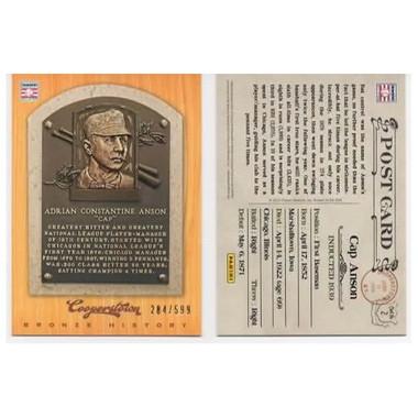 Cap Anson 2012 Panini Cooperstown Bronze History Baseball Card Ltd Ed of 599