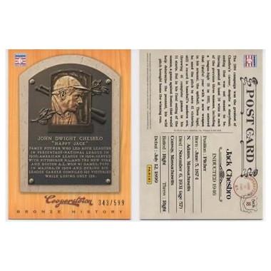 Jack Chesbro 2012 Panini Cooperstown Bronze History Baseball Card Ltd Ed of 599