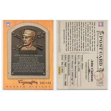 John Clarkson 2012 Panini Cooperstown Bronze History Baseball Card Ltd Ed of 599