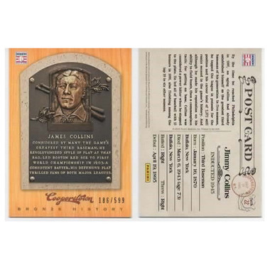 Jimmy Collins 2012 Panini Cooperstown Bronze History Baseball Card Ltd Ed of 599
