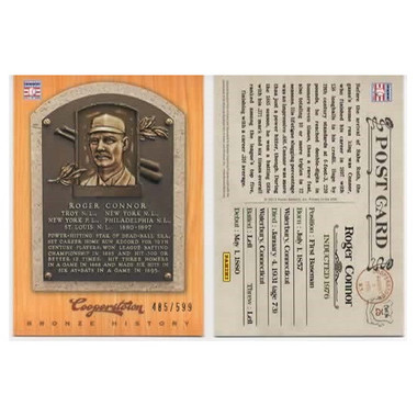 Roger Connor 2012 Panini Cooperstown Bronze History Baseball Card Ltd Ed of 599