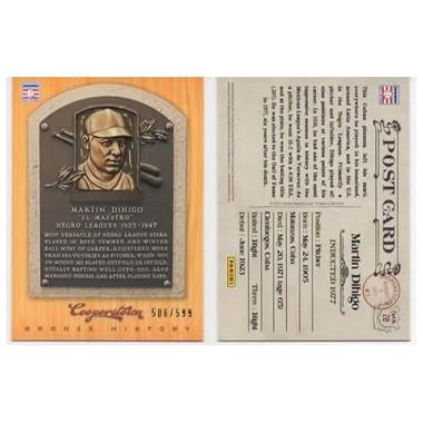 Martin Dihigo 2012 Panini Cooperstown Bronze History Baseball Card Ltd Ed of 599