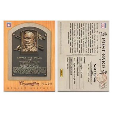 Ned Hanlon 2012 Panini Cooperstown Bronze History Baseball Card Ltd Ed of 599
