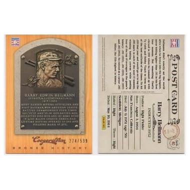 Harry Heilmann 2012 Panini Cooperstown Bronze History Baseball Card Ltd Ed of 599