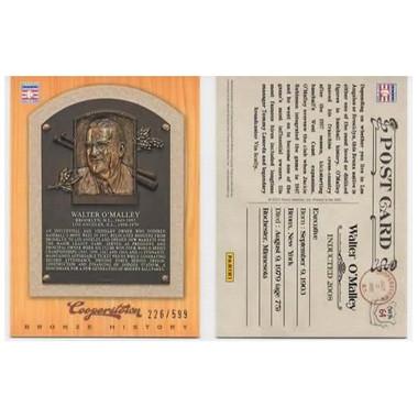 Walter O'Malley 2012 Panini Cooperstown Bronze History Baseball Card Ltd Ed of 599
