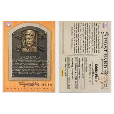 Eddie Plank 2012 Panini Cooperstown Bronze History Baseball Card Ltd Ed of 599