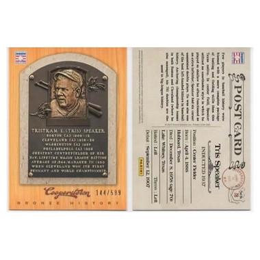 Tris Speaker 2012 Panini Cooperstown Bronze History Baseball Card Ltd Ed of 599