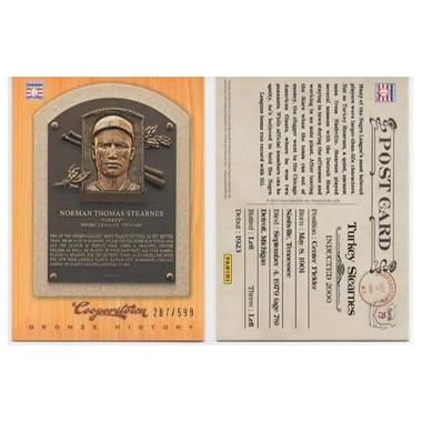 Turkey Stearnes 2012 Panini Cooperstown Bronze History Baseball Card Ltd Ed of 599
