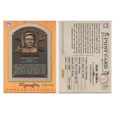 Mule Suttles 2012 Panini Cooperstown Bronze History Baseball Card Ltd Ed of 599