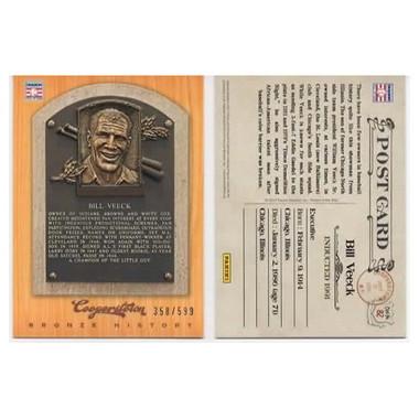 Bill Veeck 2012 Panini Cooperstown Bronze History Baseball Card Ltd Ed of 599