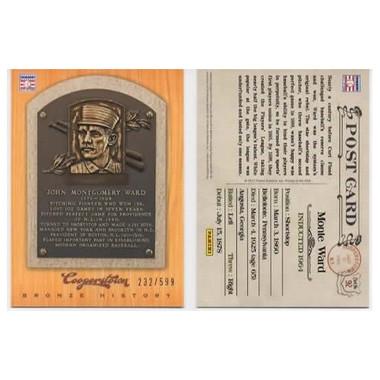 John Ward 2012 Panini Cooperstown Bronze History Baseball Card Ltd Ed of 599
