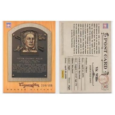 Vic Willis 2012 Panini Cooperstown Bronze History Baseball Card Ltd Ed of 599