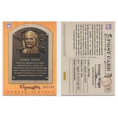 George Wright 2012 Panini Cooperstown Bronze History Baseball Card Ltd Ed of 599