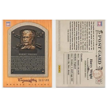 Harry Wright 2012 Panini Cooperstown Bronze History Baseball Card Ltd Ed of 599