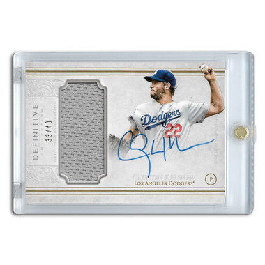 Clayton Kershaw Autographed Card 2017 Topps Definitive Ltd Ed of 40