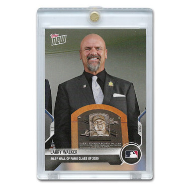 Larry Walker Hall of Fame Induction 2021 Topps Now Card # 777 Ltd Ed of 752