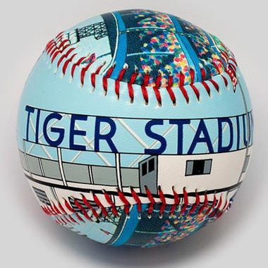 Tiger Stadium Unforgettaballs Limited Commemorative Baseball with Lucite Gift Box