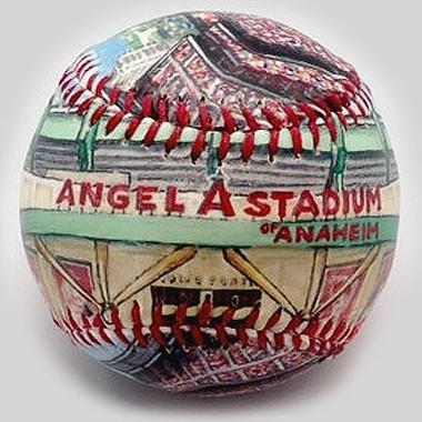 Angel Stadium Unforgettaballs Limited Commemorative Baseball with Lucite Gift Box