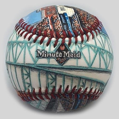 Minute Maid Park Unforgettaballs Limited Commemorative Baseball with Lucite Gift Box