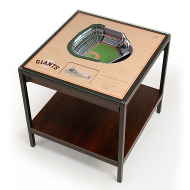 San Francisco Giants 25-Layer StadiumViews Lighted End Table - Oracle Park