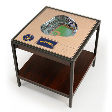Milwaukee Brewers 25-Layer StadiumViews Lighted End Table - American Family Field