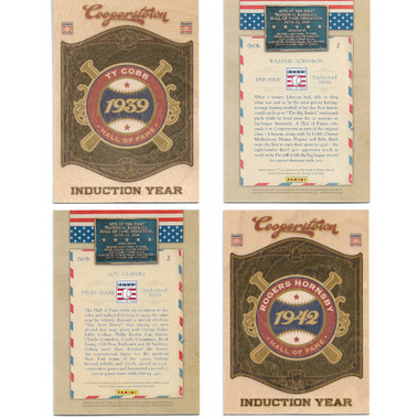 2012 Panini Cooperstown Induction Year 20 Card Baseball Insert Set