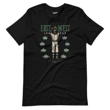 Unisex Teambrown Negro East-West League Black T-Shirt - 8 Teams
