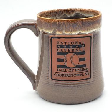 Baseball Hall of Fame Brown Ceramic 22oz Mug