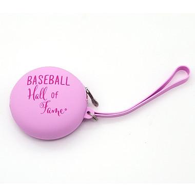 Baseball Hall of Fame Pink Silicone Wristlet