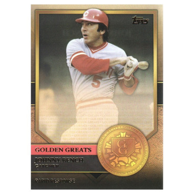 Johnny Bench 2012 Topps Golden Greats Card # 87
