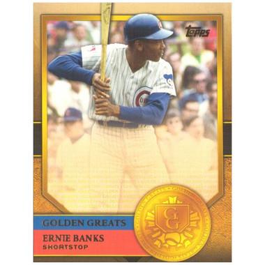 Ernie Banks 2012 Topps Golden Greats Card # 81