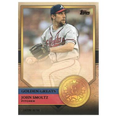 John Smoltz 2012 Topps Golden Greats Card # 86