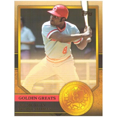 Joe Morgan 2012 Topps Golden Greats Card # 85