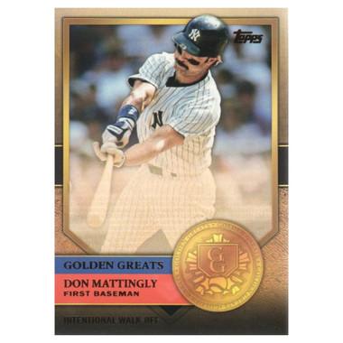 Don Mattingly 2012 Topps Golden Greats Card # 80