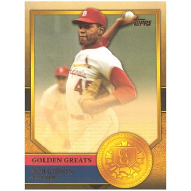 Bob Gibson 2012 Topps Golden Greats Card # 77