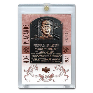 Cy Young 2005 Upper Deck Hall of Fame Placards # 88 Ltd Ed of 550
