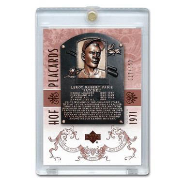 Satchel Paige 2005 Upper Deck Hall of Fame Placards # 95 Ltd Ed of 550