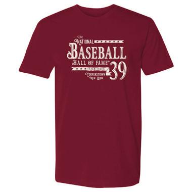 Men's Baseball Hall of Fame Established '39 Cardinal T-Shirt
