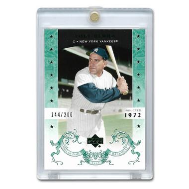 Yogi Berra 2005 Upper Deck Hall of Fame Green # 76 Ltd Ed of 200