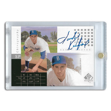 Sandy Koufax Autographed Card 2000 Upper Deck SP Authentic Chirography