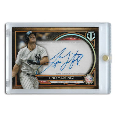 Tino Martinez Autographed Card 2020 Topps Tribute Ltd Ed of 25